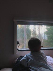 Resa med barnbarn i husbil