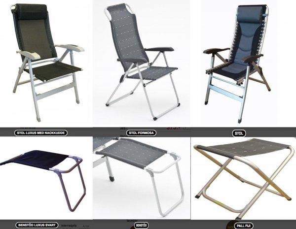 Campingstol, vilstol, kort eller hög rygg, vilken stol
