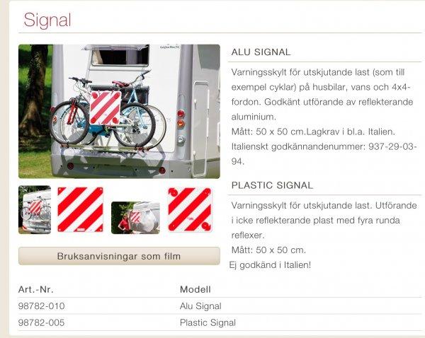 varningsskylt cykel vilka länder   Husbilsklubben.se
