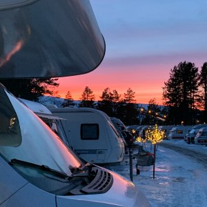 Solnedgång nyårsafton